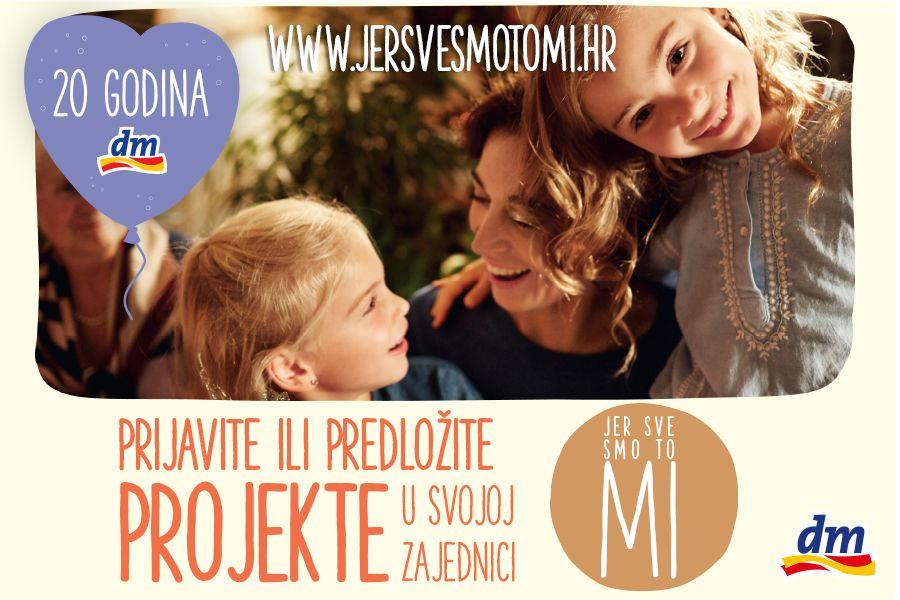 """DM inicijativa """"Jer sve smo to mi!"""" povodom proslave 20 godina DM-a u Hrvatskoj"""