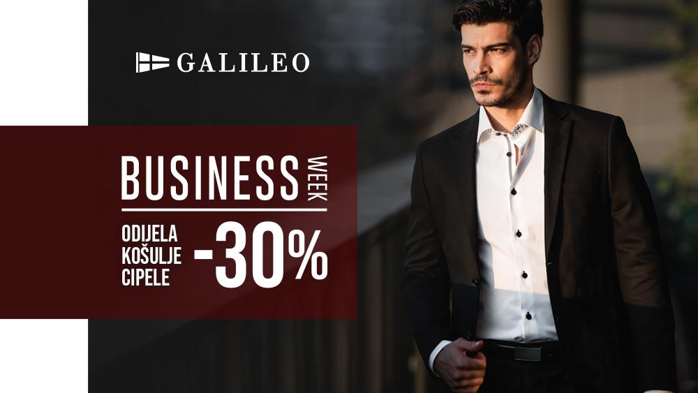 Galileo business week -30% na odijela, košulje i cipele!