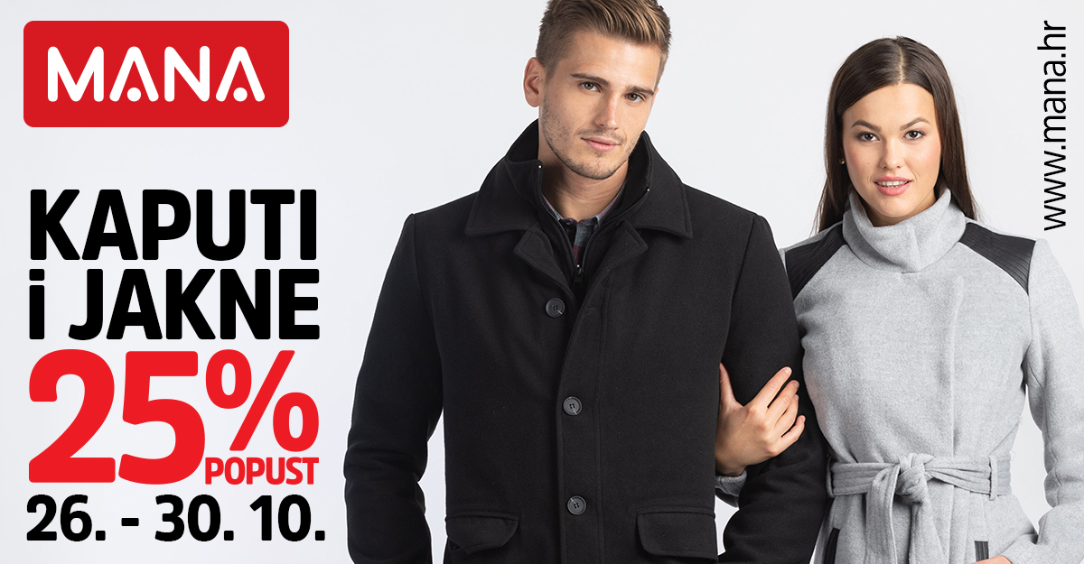 25% popusta na jakne i kapute!