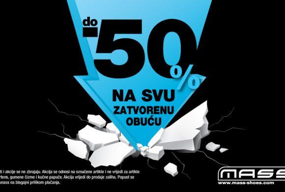 Do 50% na svu zatvorenu obuću!