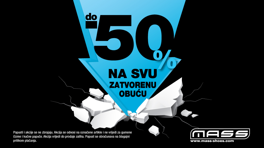 50% na svu zatvorenu obuću