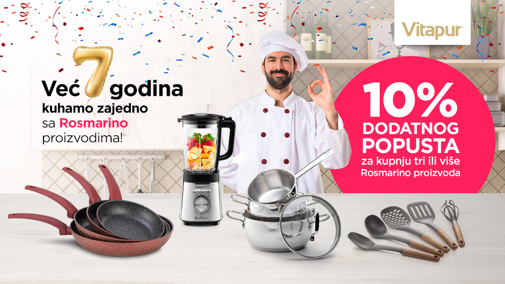🥳Rosmarino brend slavi uz dodatnih -10% za kupnju tri ili više Rosmarino proizvoda!