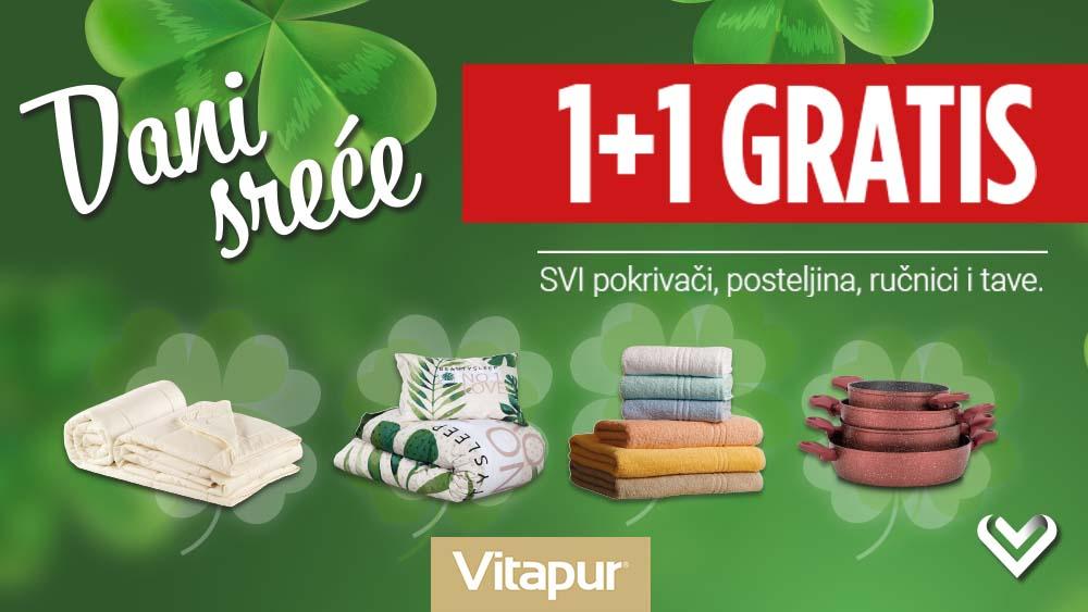 Dani sreće u Vitapuru: 1+1 GRATIS svi pokrivači, posteljina, tave i ručnici 🍀